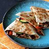 Asian Quesadilla with Chicken Zucchini and Hoisin Sauce