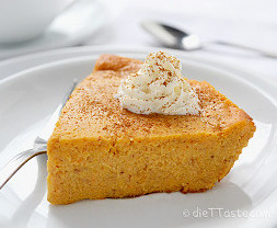 Heavenly Crustless Pumpkin Pie